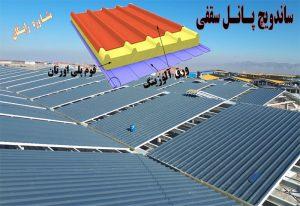 کاربری ساندویچ پانل - کاربرد ساندویچ پانل سقفی